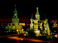 Mosca, la capitale russa, sorge sulle sponde del fiume moscova ed è