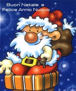 Auguri da un simpatico Babbo Natale