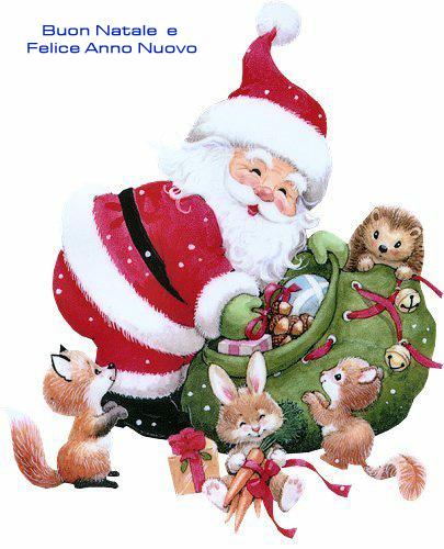 Buone Feste con Babbo Natale