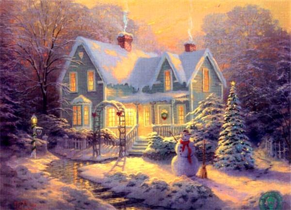 Božićne slike Immagini-di-natale-casa-innevata