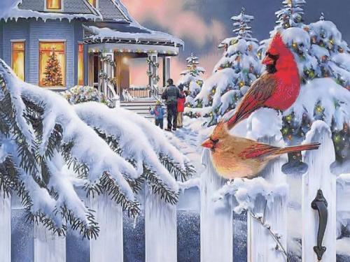 Immagini di Natale - Casa Addobbata