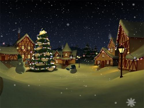 Immagini di Natale - Paesaggio con Albero