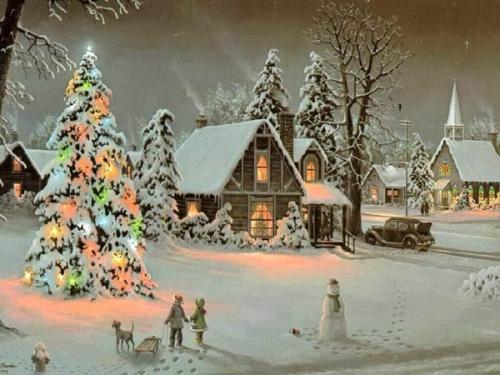 Immagini di Natale - Paesaggio Festivo