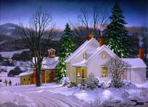 Immagini di Natale - Paesaggio Innevato