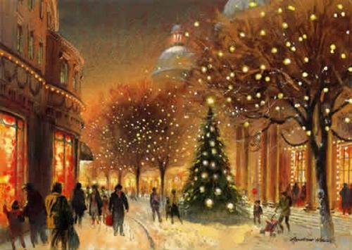 Immagini di Natale - Paesaggio Natalizio