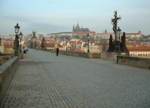 Ponte Carlo e il Castello di Praga
